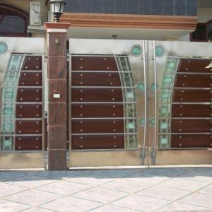 Splendid Design Of Main Gate Of Home Made Of Iron In Addition To