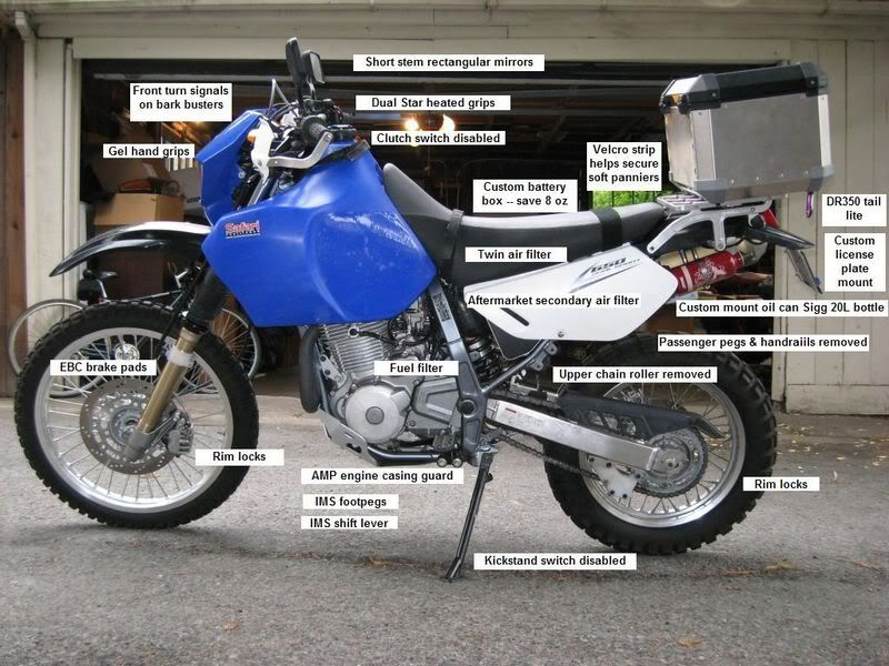 popular modifications for the suzuki dr650se dual sport motorcycle