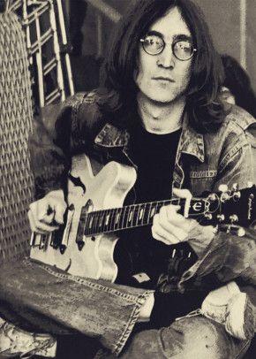 John Lennon Play Guitar Music Poster Print   metal posters - Displate
