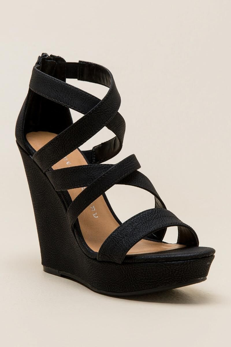 Chinese Laundry Monami Strappy Wedge Prom Shoes Strappy Wedges