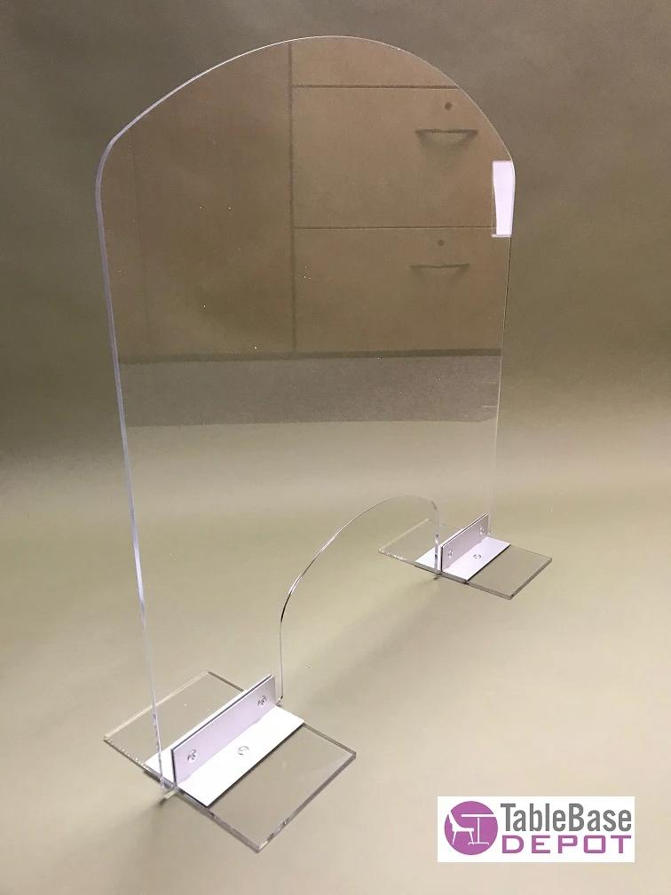Heavy Duty Contemporary Protective Germ Shield Aluminum Base Desk Coun Tablebasedepot In 2020 Counter Desk Desk Dividers Desk