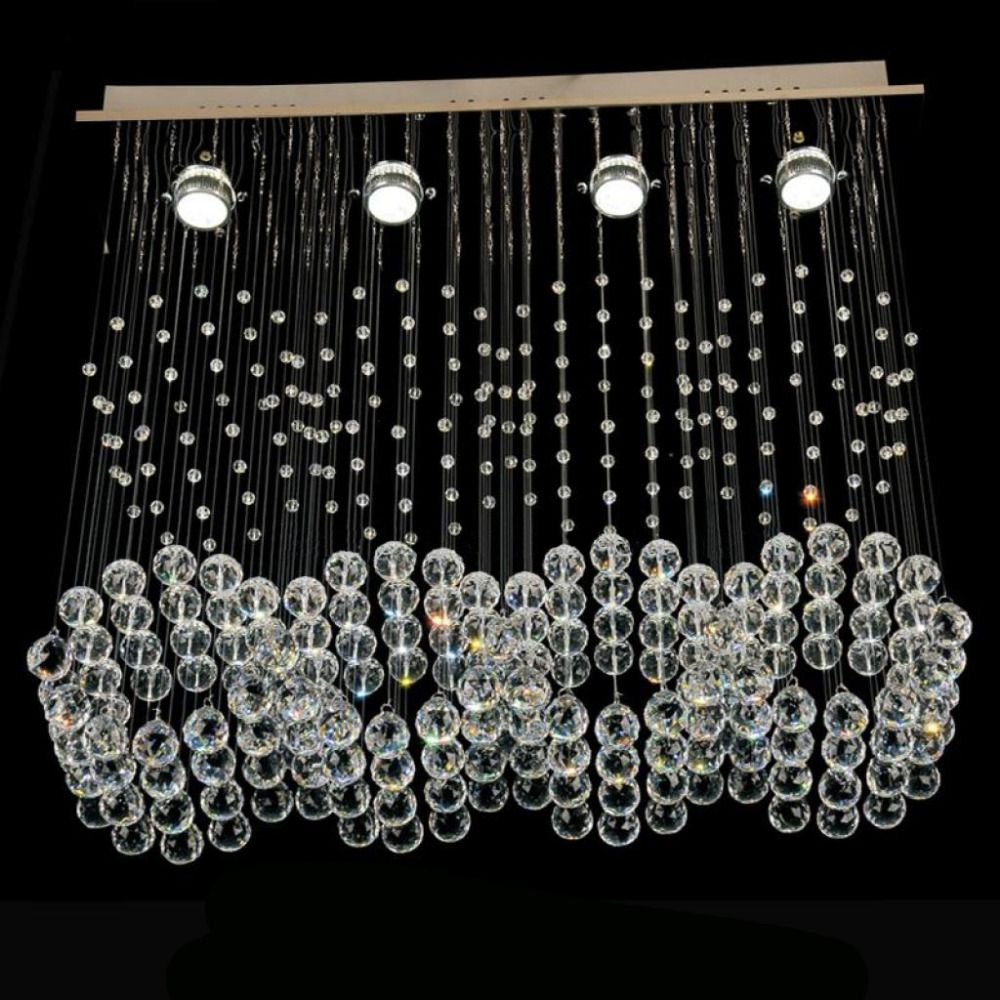 Free Shipping Rectangle Modern Hanging Cristal Lamps