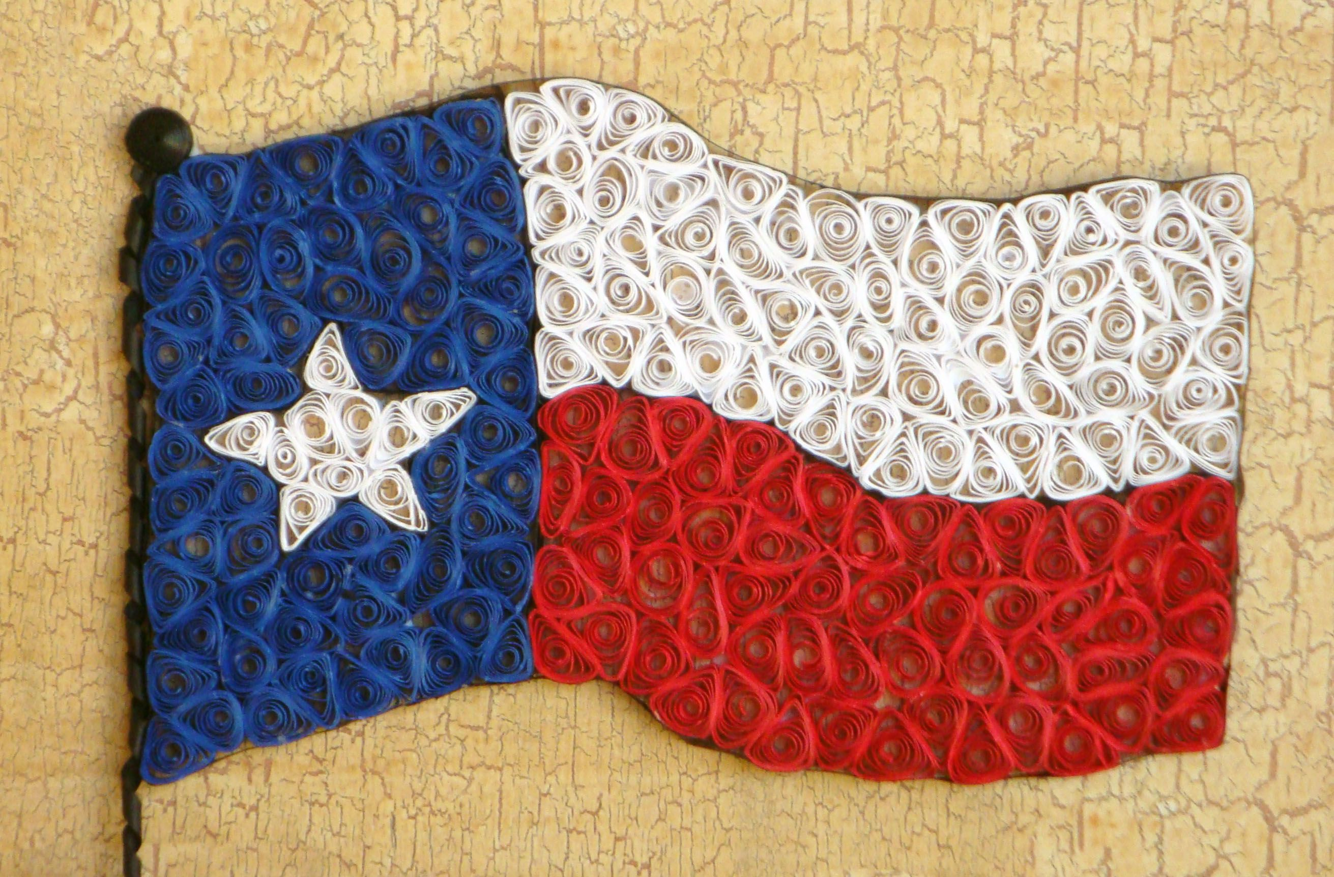Texas Flag Paper Quilling Patterns Paper Quilling Quilling Designs