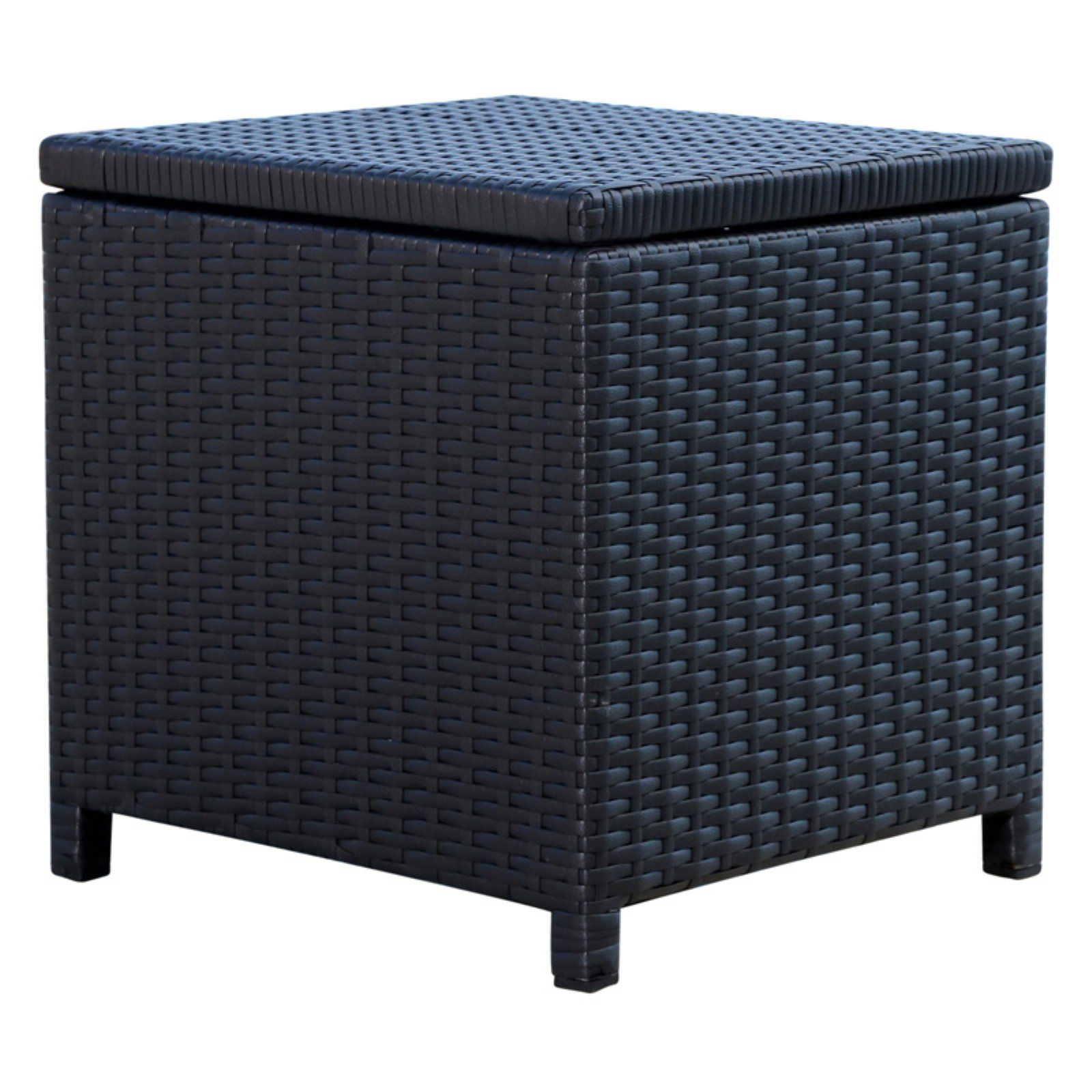 Pleasing Abbyson Chase Outdoor Wicker Storage Ottoman Products In Machost Co Dining Chair Design Ideas Machostcouk