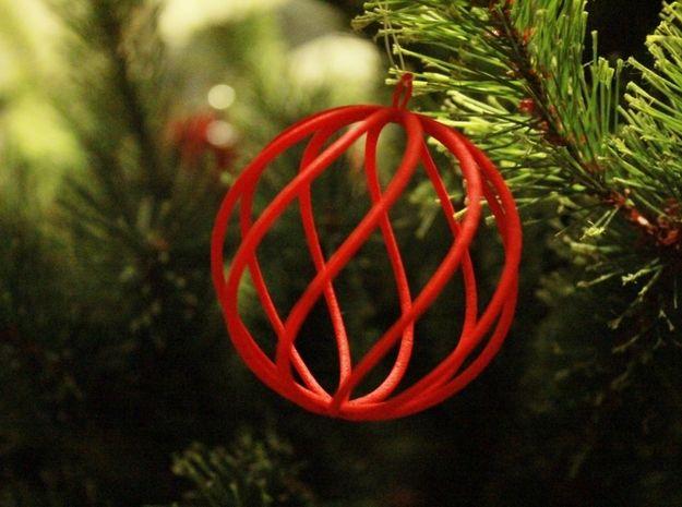 Spiral Christmas Ball Small By Dune Doree On Shapeways Handmade Christmas Ornaments 3d Printing Diy Christmas Balls