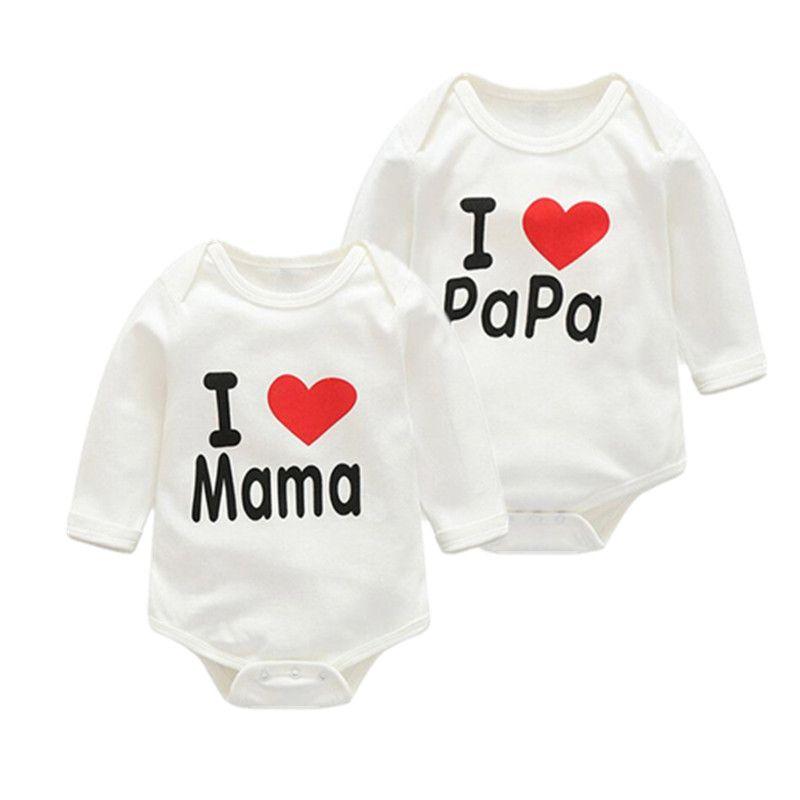 i love mama papa baby clothes boys girls cheap infant clothing 100 ...