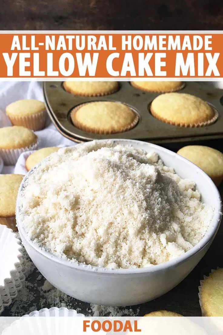 All-Natural Homemade Yellow Cake Mix | Recipe | Yellow ...