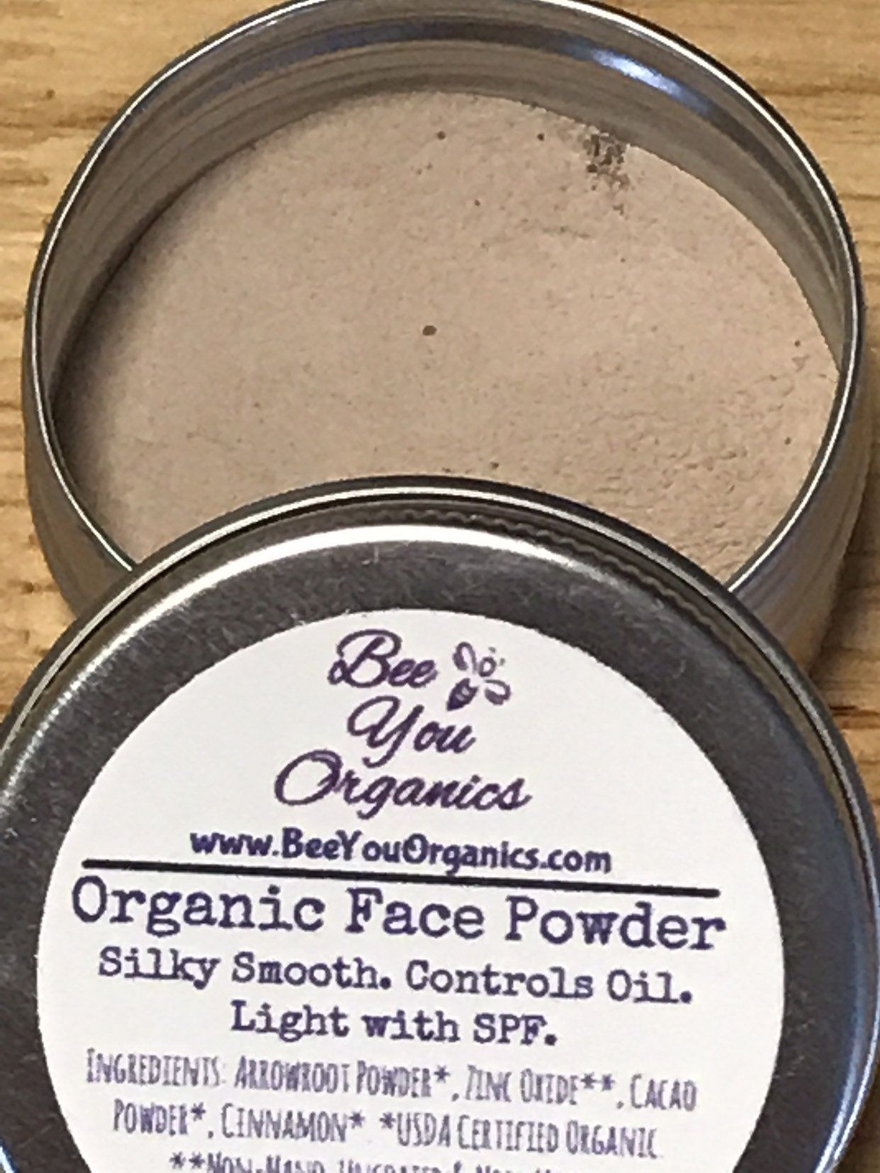 Organic Face Powder Zero Waste Makeup Foundation Safe for