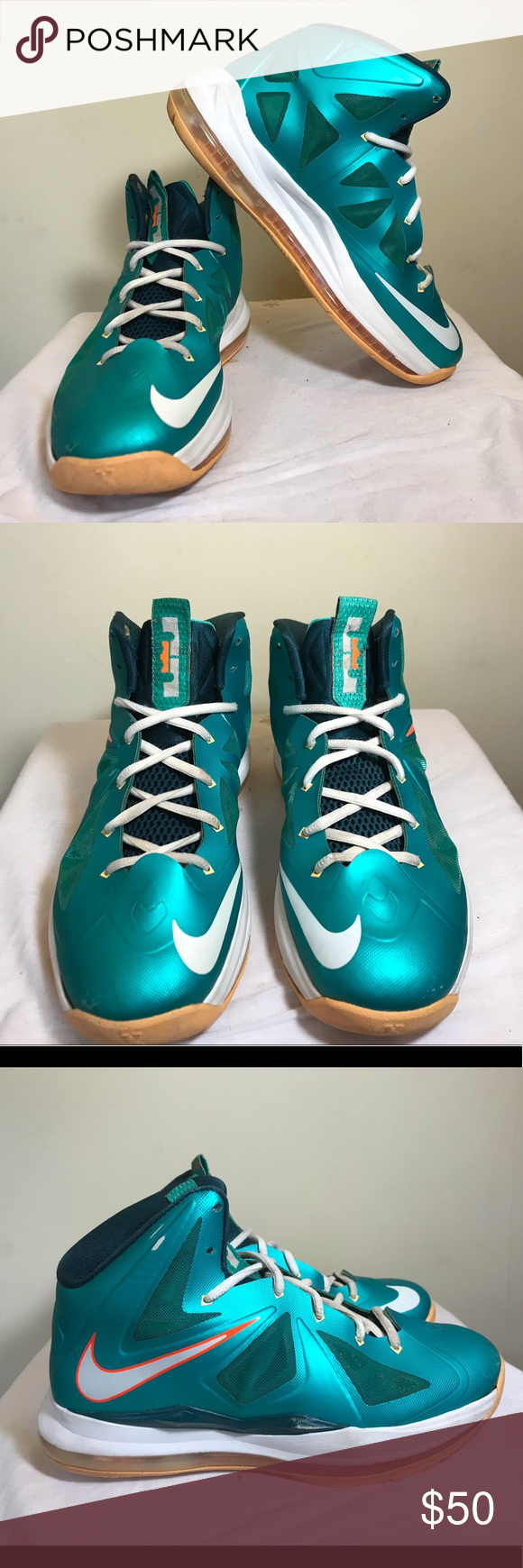 "5d8a8b19cae Nike Lebron 10 (GS) ""Miami Dolphins""   Please review all pictures ..."