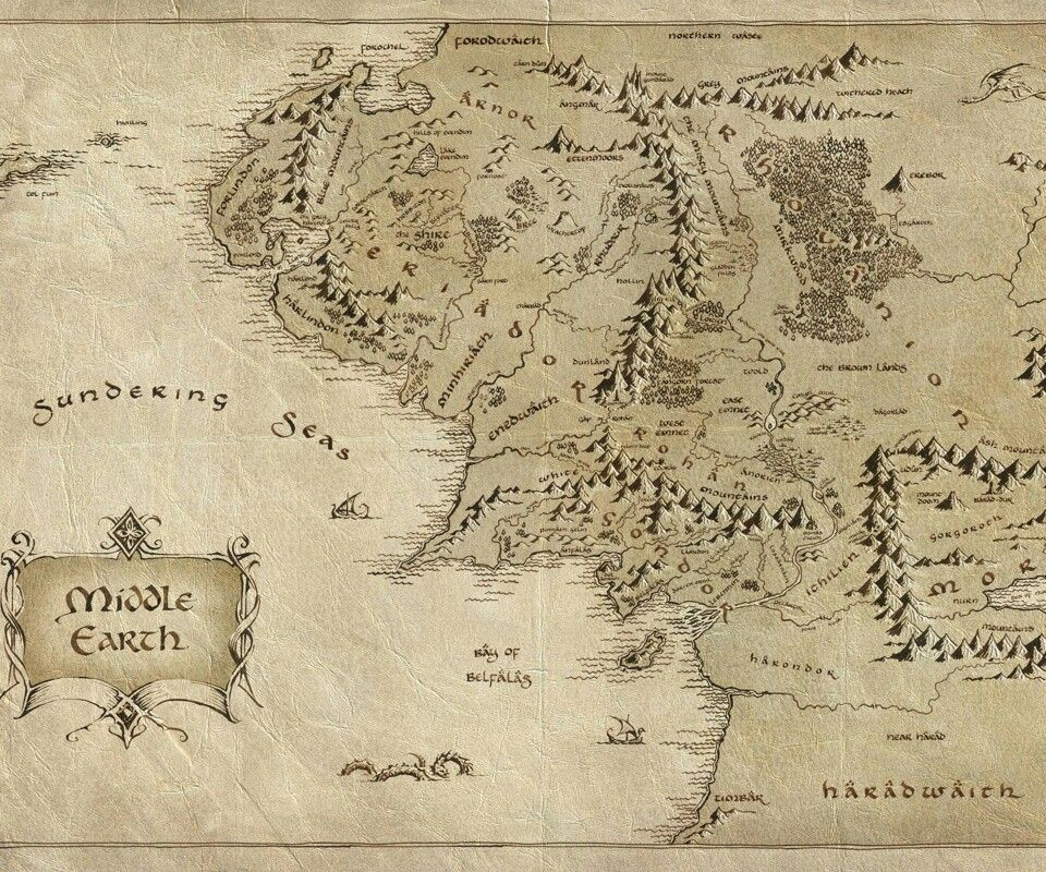 middle earth the lord of the rings map fantasy movies hobbit wallpaper background