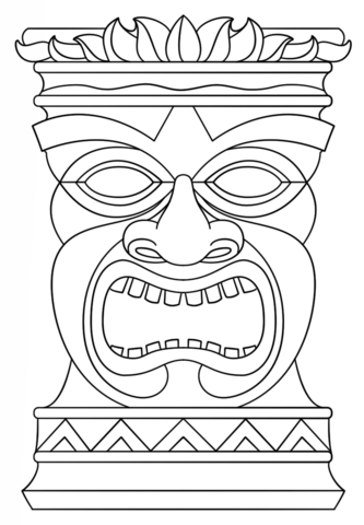 Tiki Totem Mask coloring page from Tiki category. Select from 20946 ...