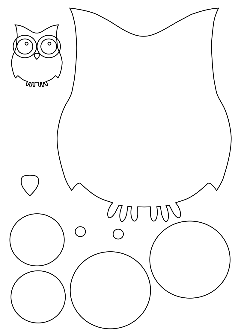 Сова открытка шаблон