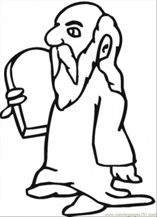 Moses Printable Coloring Pages | Bible Colouring pages | Pinterest