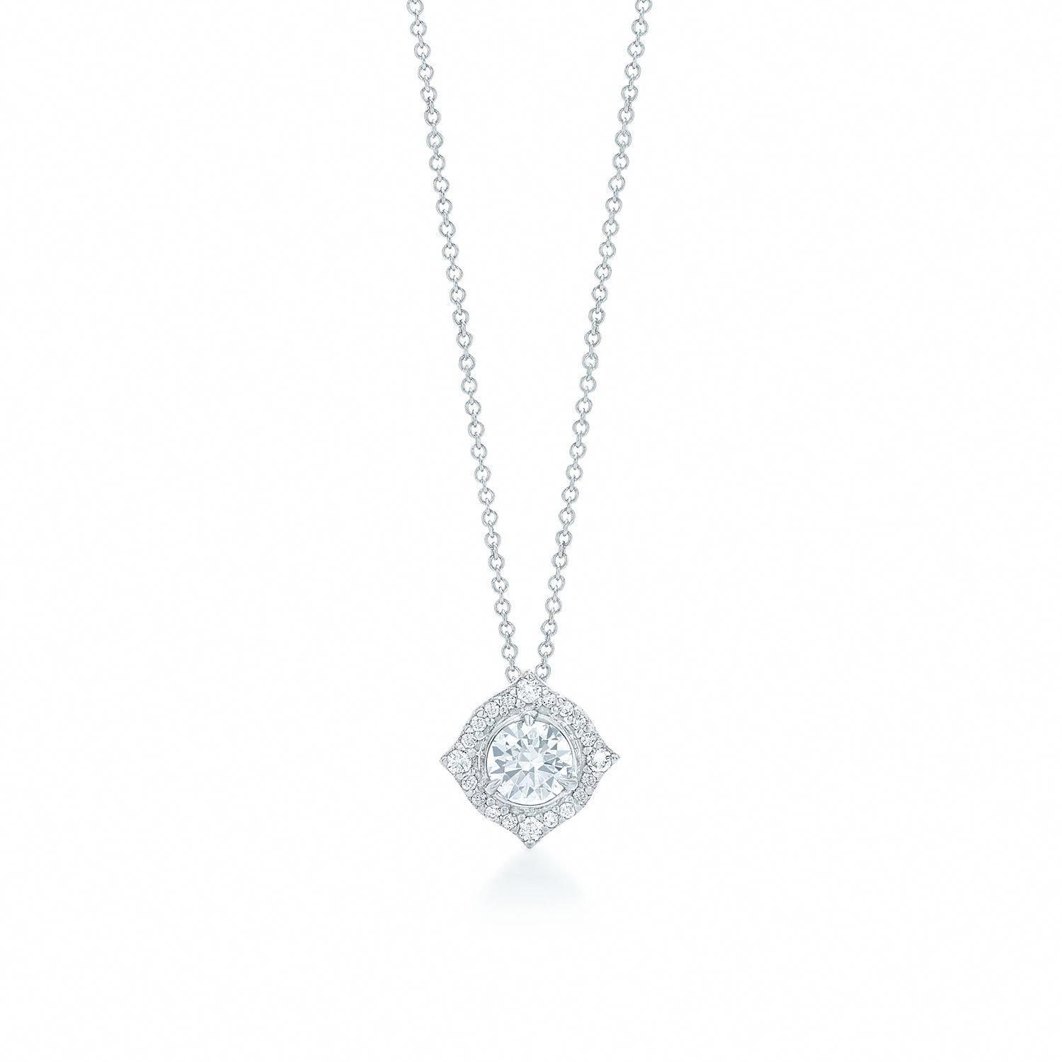 White gold pendant kwiat splendor collection style w diamond