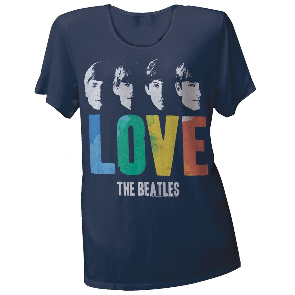 The Beatles - Love Juniors Boyfriend T-Shirt | OldGlory.com