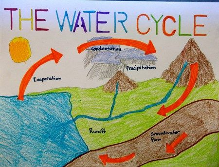 mrs lyon 39 s class water cycle illustration the art of teaching art pinterest cycling. Black Bedroom Furniture Sets. Home Design Ideas