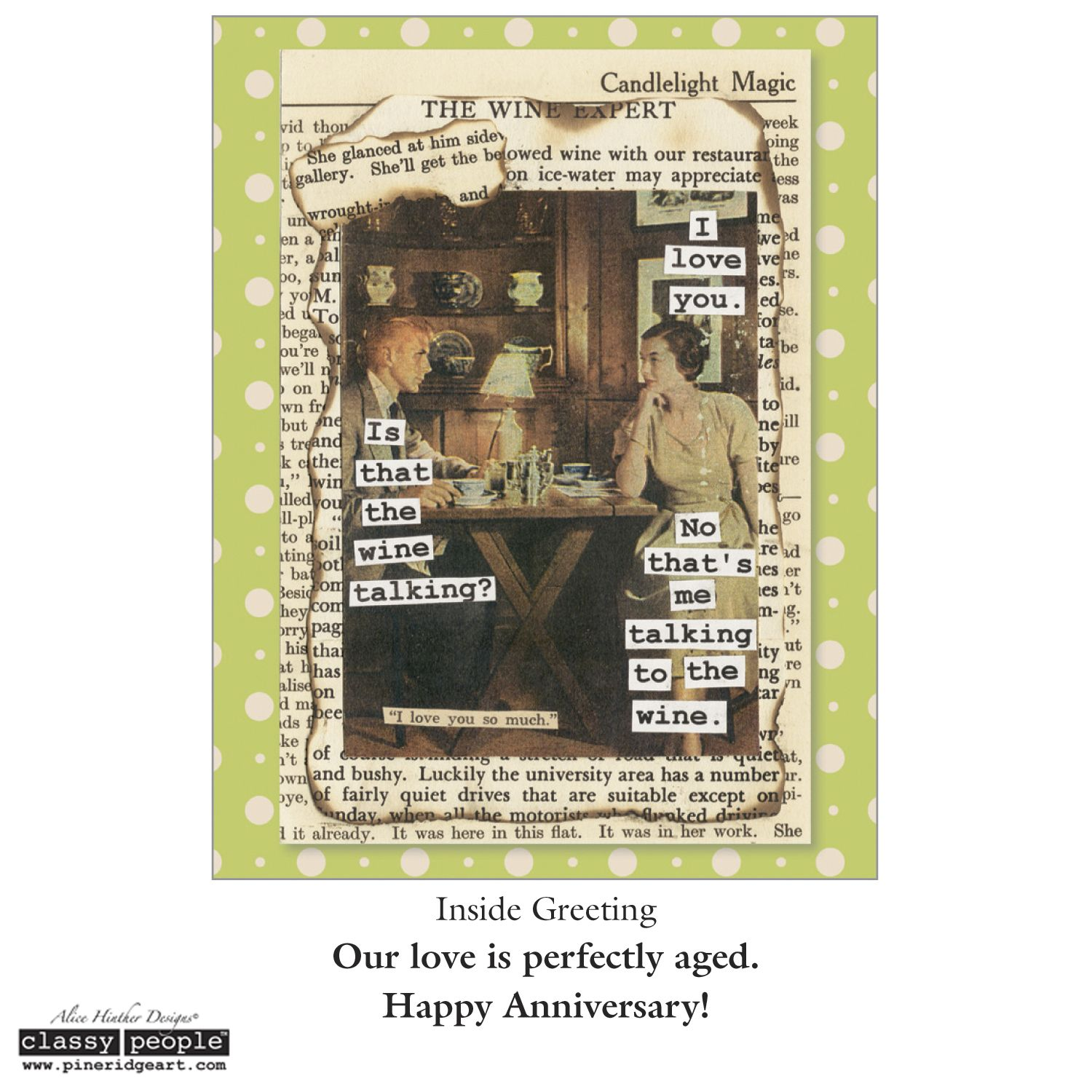 Anniversary Card from Classy People™ by Pine Ridge Art. | Anniversary cards,  Candlelight, Cards