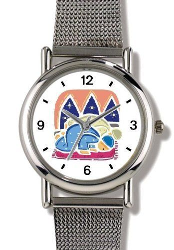 Moslem or Muslim Men at Prayer - WATCHBUDDY® ELITE Chrome-Plated Metal Alloy Watch with Metal Mesh Strap-Size-Small ( Children's Size - Boy's Size & Girl's Size ) WatchBuddy. $79.95
