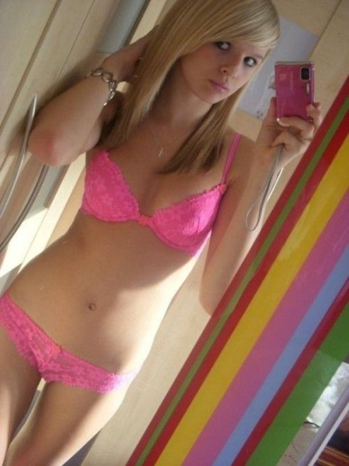 With hot blonde teen matching underwere accept. interesting