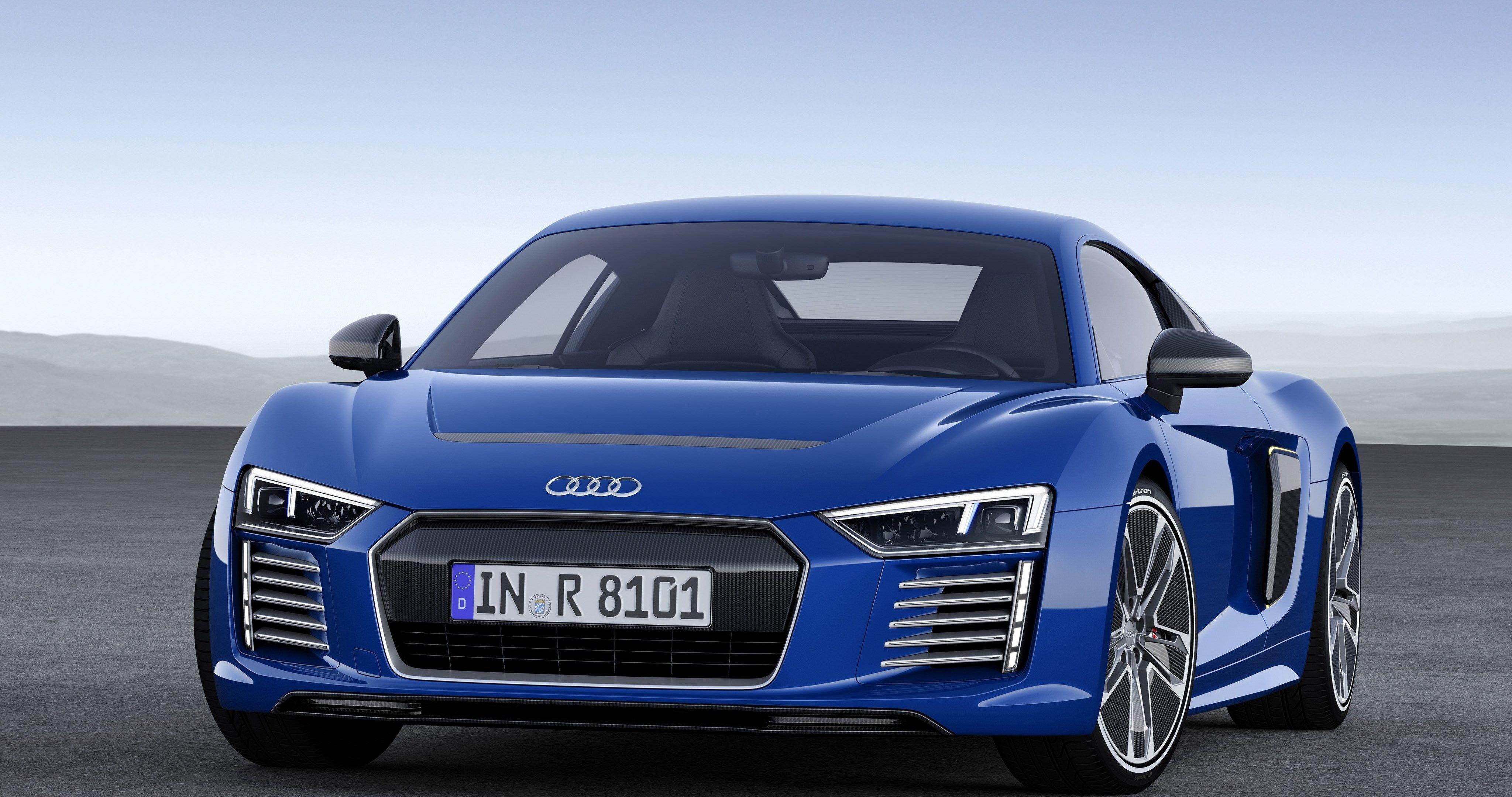 Audi r8 2015 blue 4k ultra hd wallpaper