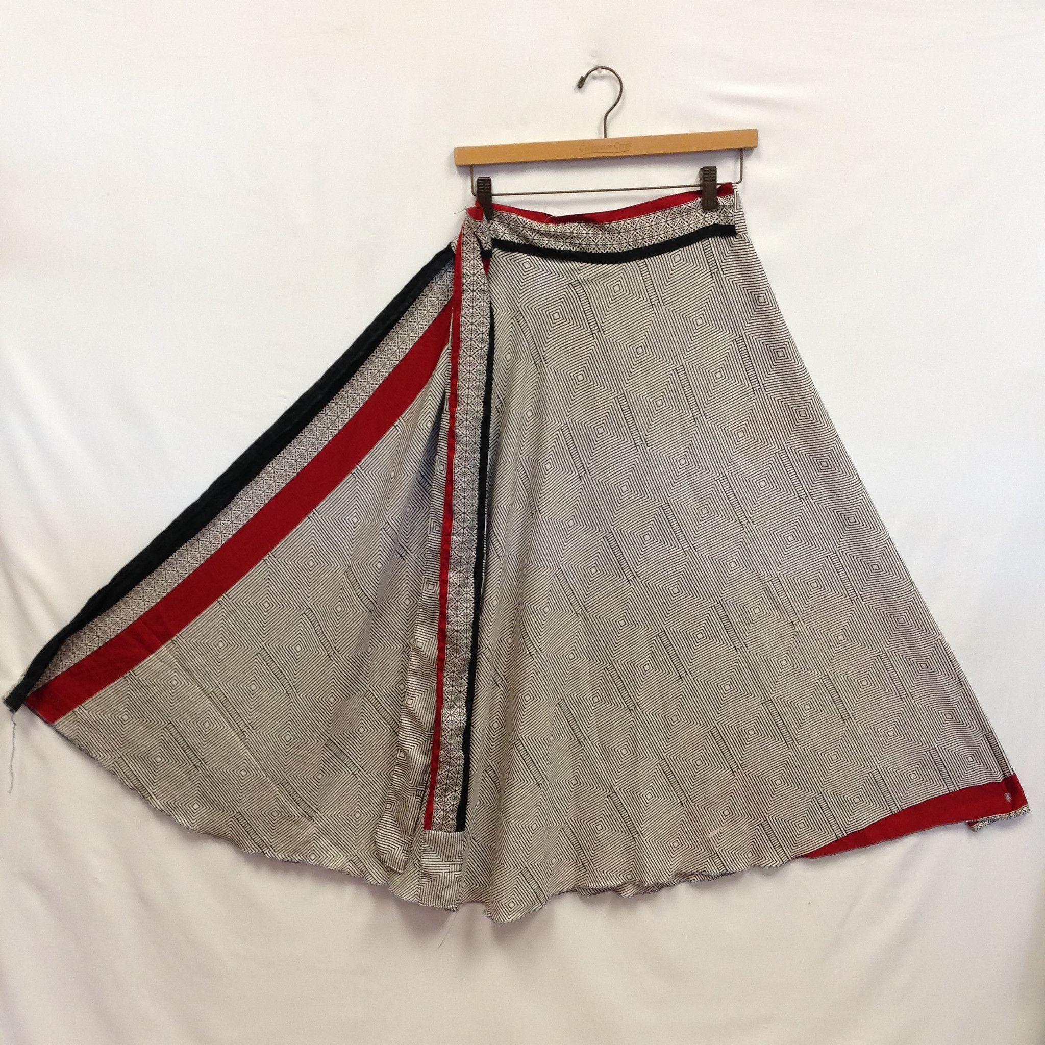 Wrap Long Skirt -Black & White | Short & Long Indian skirts ...