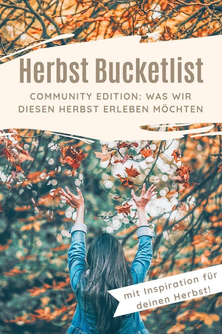 Community Herbst Bucketlist - Was wir diesen Herbst erleben möchten - Mira Vellichor
