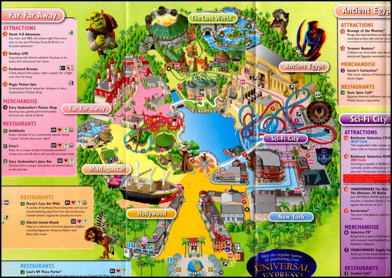Your guide to Universal Studios Singapore | Singapore map