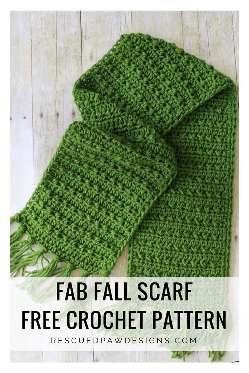 Fringe Scarf Crochet Pattern for Fall - Rescued Paw Designs #crochetscarves
