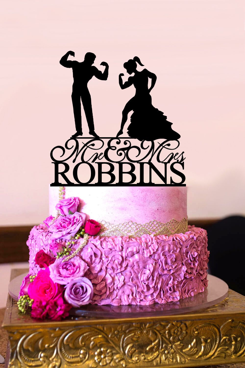 Wedding Cake Topper, Muscle Man Cake Topper, Bodybuilding Couple, Mr ...