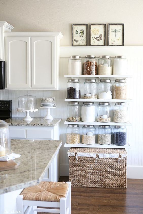 23 Rustic Farmhouse Decor Ideas The Crafting Nook Farmhouse Kitchen Decor Farmhouse Style Kitchen Kitchen Shelf Decor