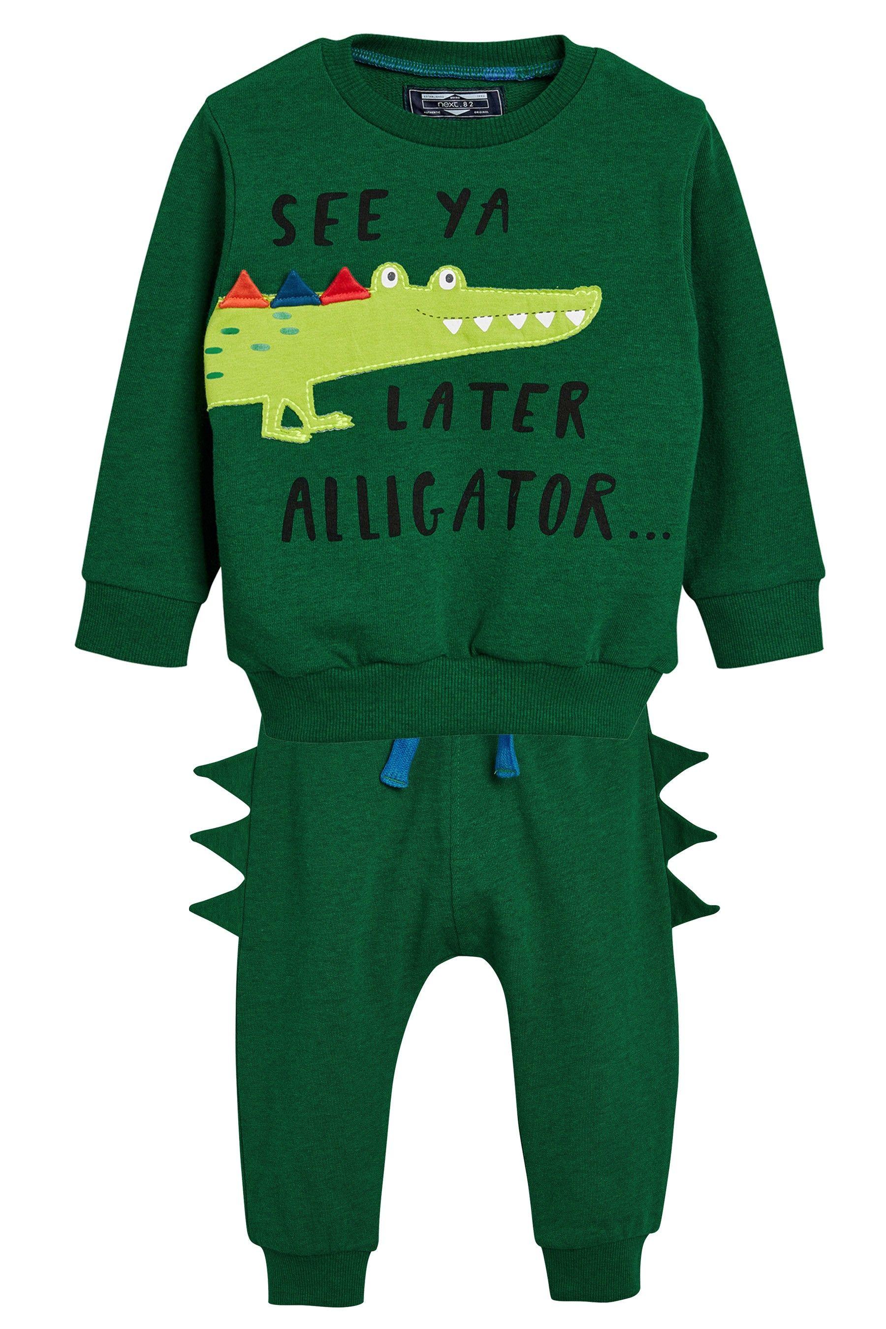 Next Jogger 6yrs Crew And Set3mths Boys Green Later Alligator O8XnwkP0