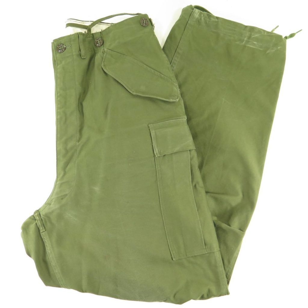 Vintage 50s M 1951 Military Trousers Shell Pants Large Us Army Korea Era The Clothing Vault