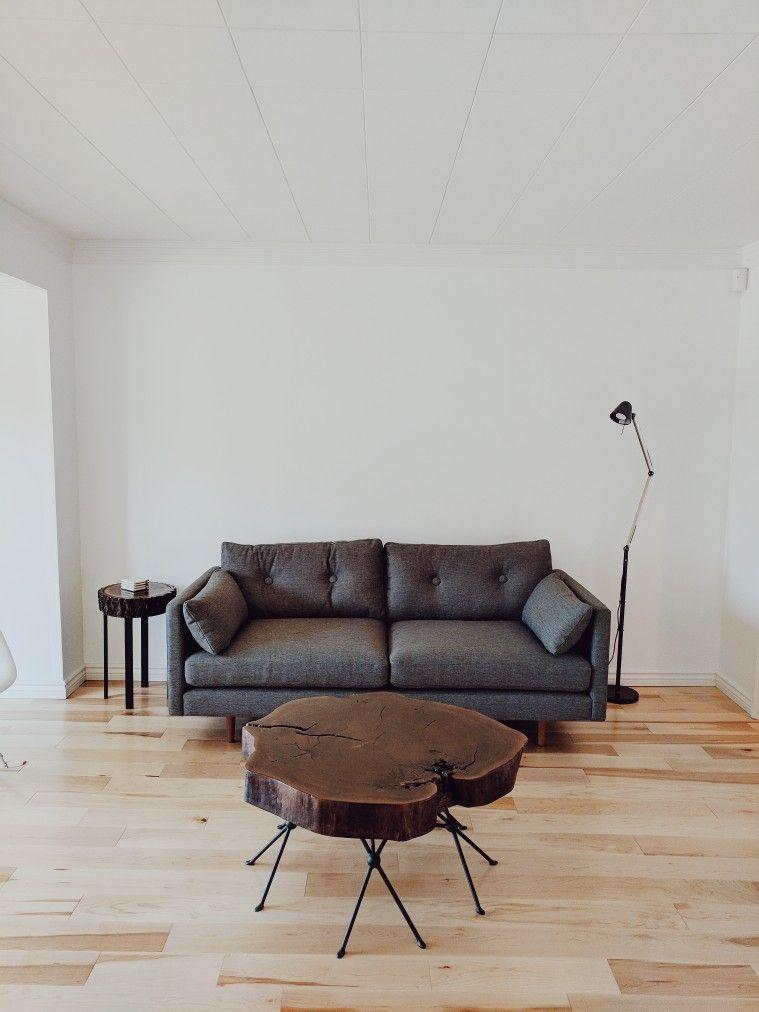 Anton Gravel Grey Sofa From Article Custom Walnut Coffee Table