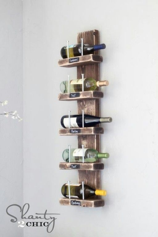 Wonderbaarlijk De coolste DIY ideeën om je eigen wijnrek te maken   Wijnrek CU-34