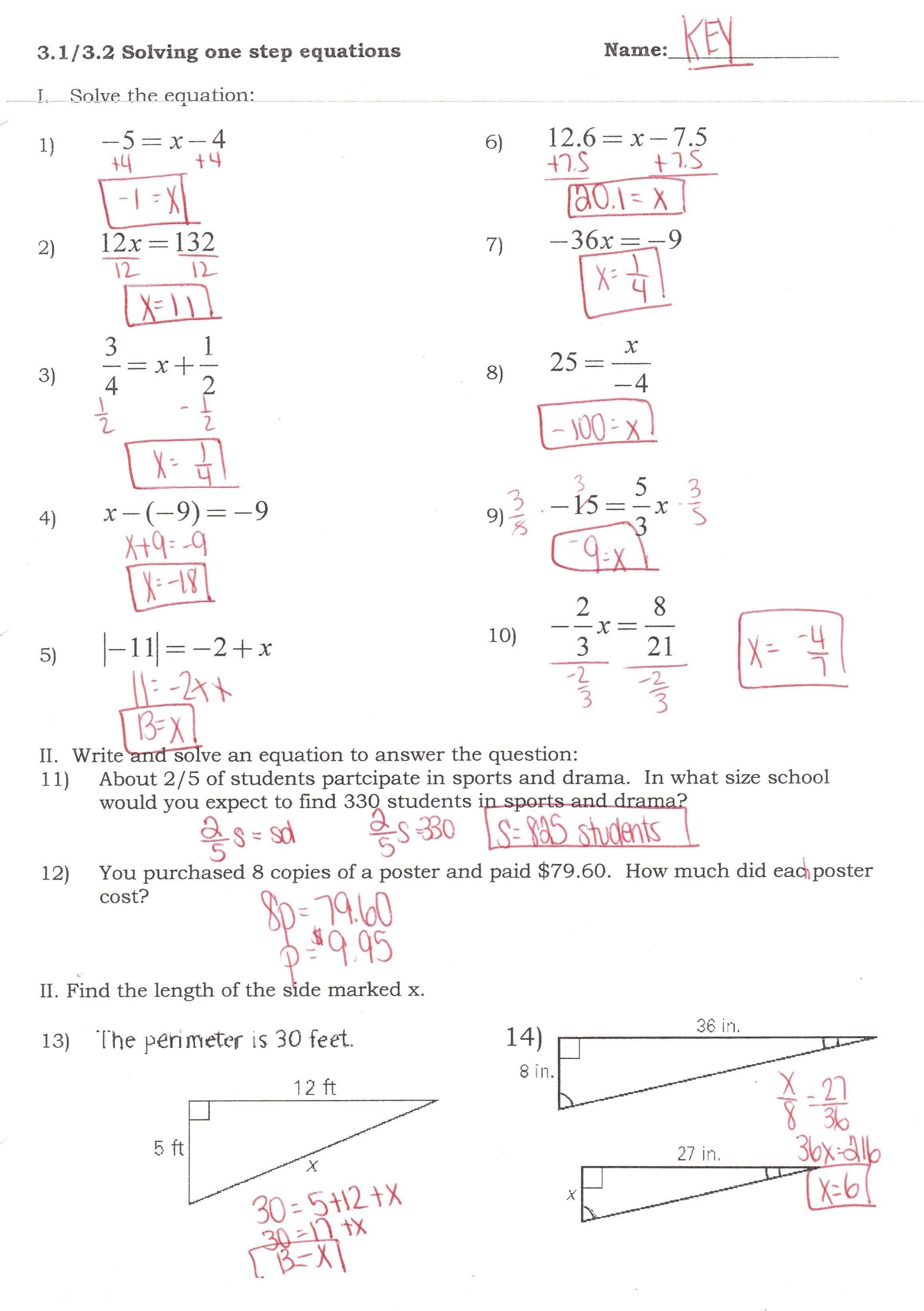 Graphing Absolute Value Equations Worksheet