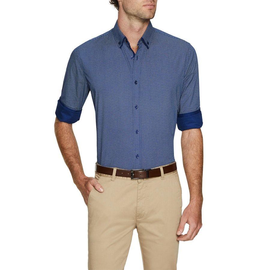 27fde9cc27 Tarocash Lord Print Shirt Blue Xxxl in 2019