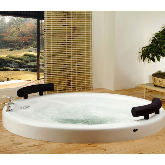 Buy The Neptune OS524T Osaka 52 X 52 Whirlpool Round Bathtub With 4 Inch  Lip And