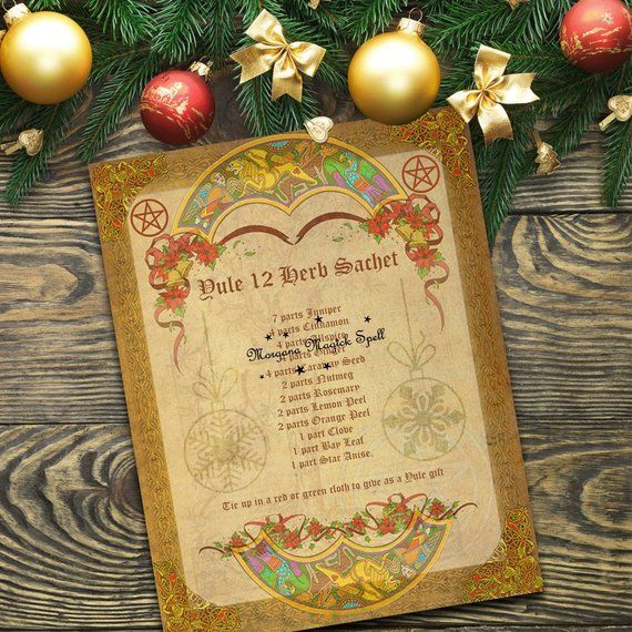 YULE 12 HERB SACHET - Printable Book Of Shadows