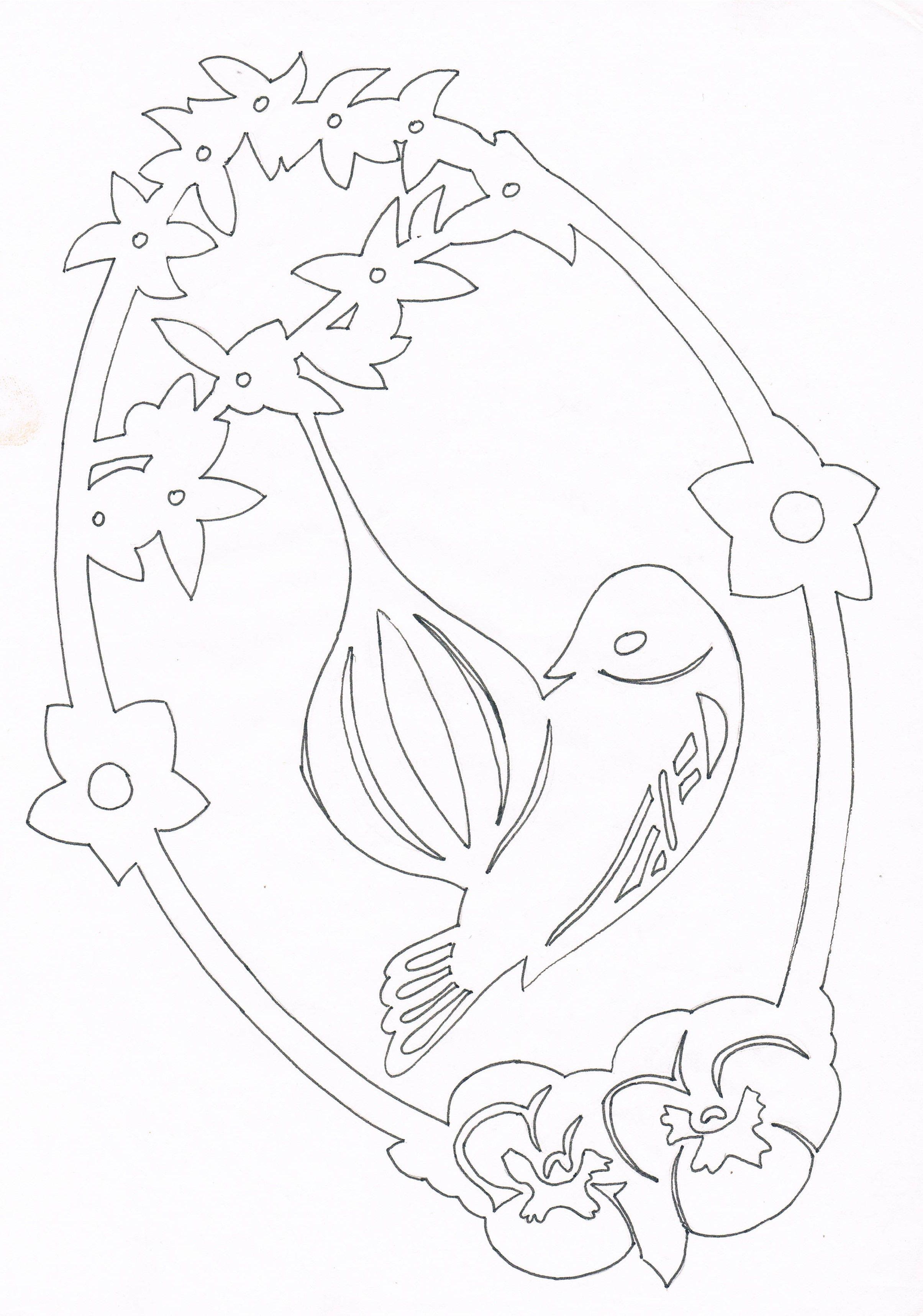 Ptáček u lojové koule   Filigrany - wycinanki   Pinterest   Laubsäge ...