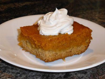 Paula Deen, gooey, thanksgiving, pumpkin pie, spice, dessert