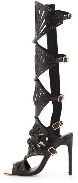 db6ce1aa6f21 Ivy Kirzhner Black Venezian Tall Gladiator Sandal €679 SS 2015 Shoes