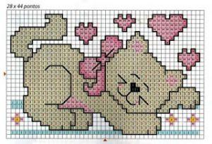Grafico De Lindos Gatinhos Com Imagens Animais De Ponto Cruz