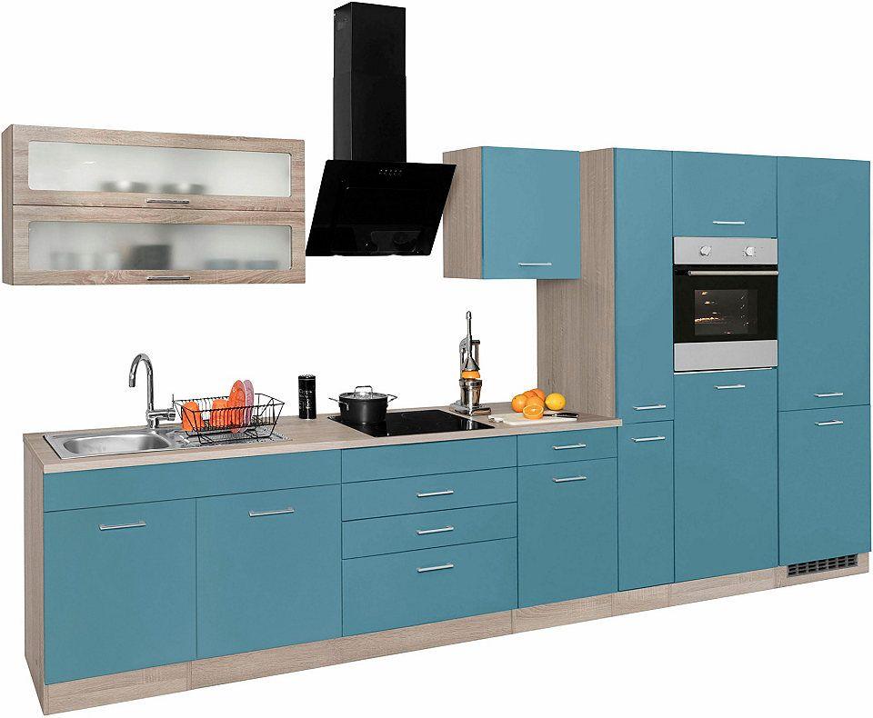 Held Möbel Küchenzeile mit E-Geräten »Utah«, Breite 380 cm Jetzt - küchenblock ohne e geräte