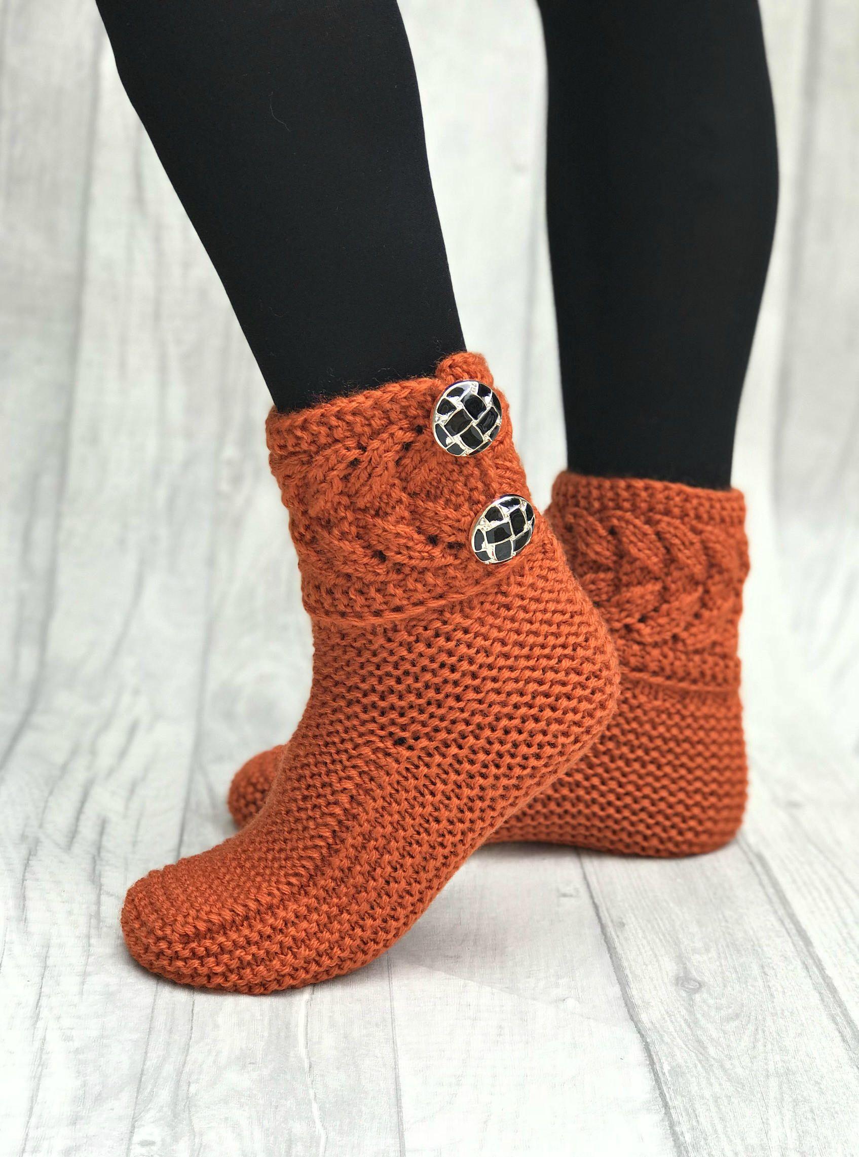 d46ed36d7a303 Warm Hand Knits - Warm Socks - Warm Cozy - Hand Knitted Socks - Hand ...