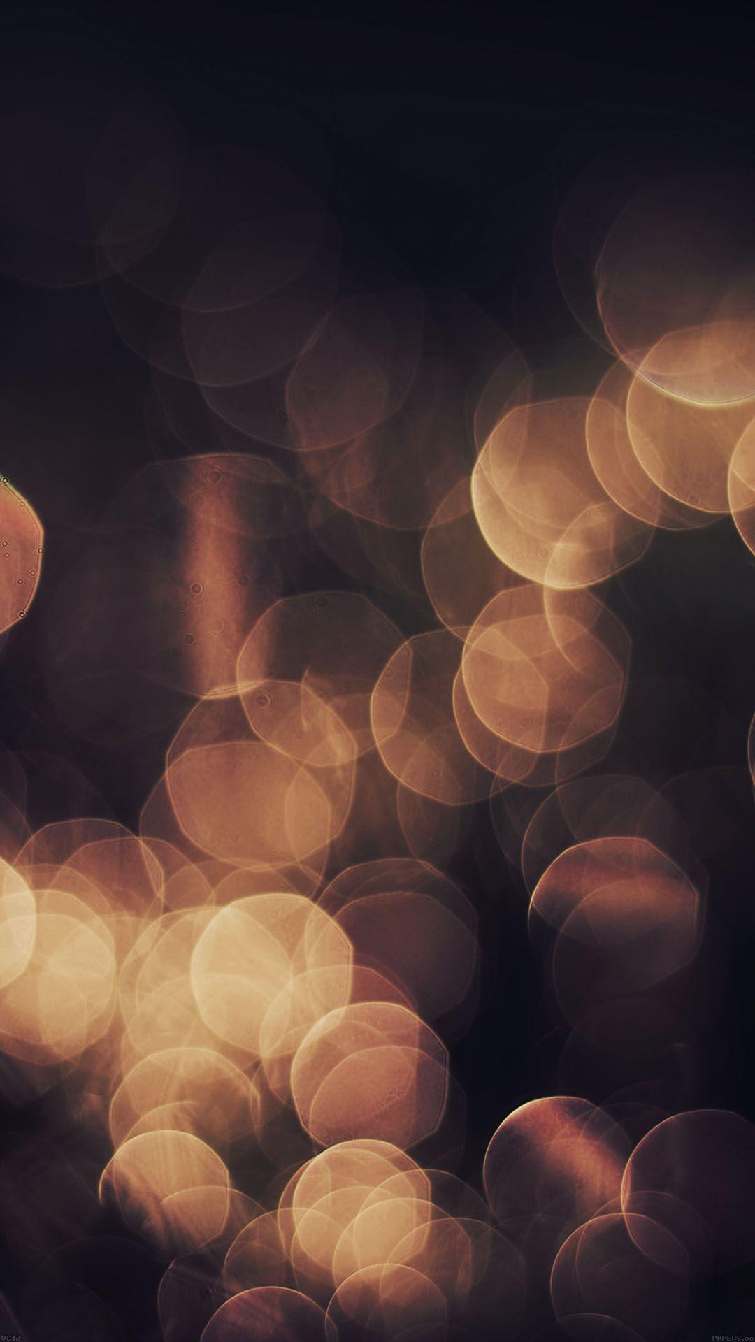 Orange Bokeh Lights Black Background Android Wallpaper Bokeh Bokeh Lights Fairy Wallpaper
