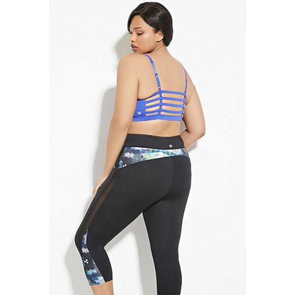 fc692cb087635 Forever 21 Plus Women s Plus Size Caged Sports Bra ( 20) ❤ liked on Polyvore