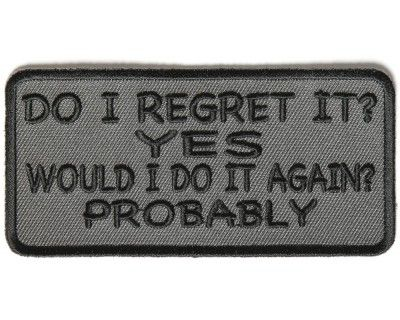 motorcycle I CAN RESIST ANYTHING BUT TEMPTATION   Biker Vest Jacket Patch