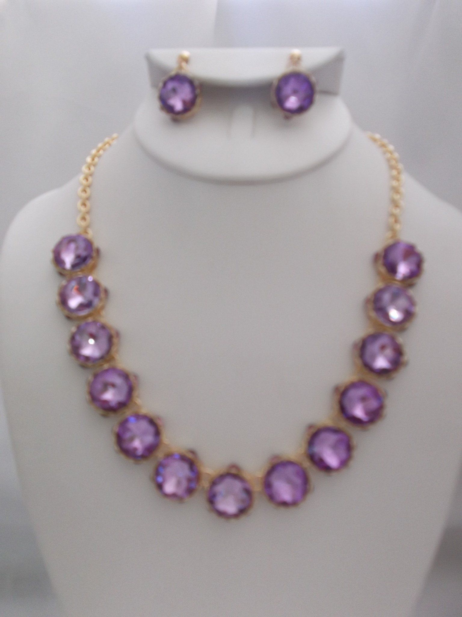 gold statement stone quartz precious necklace multi amethyst purple semi ottoman and hands necklaces rose