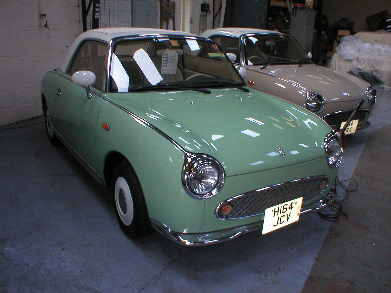 Immaculate Green Nissan Figaro in Left Hand Drive at the