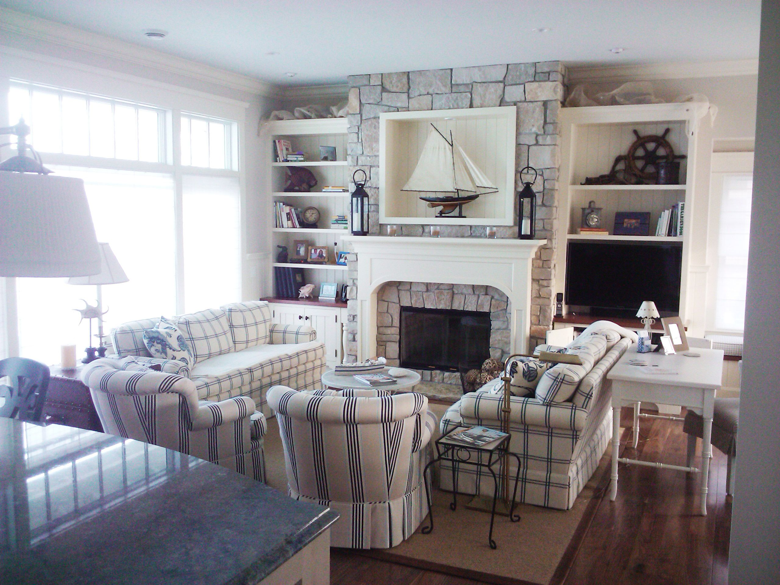 Nautical Themed Living Room Remodel   TEK Building U0026 Remodeling |  Milwaukee Area Interior